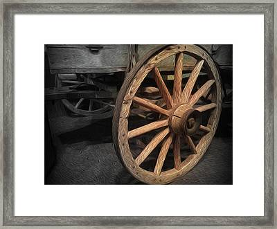 Wheel Of Yesteryear Framed Print by Zin Shades