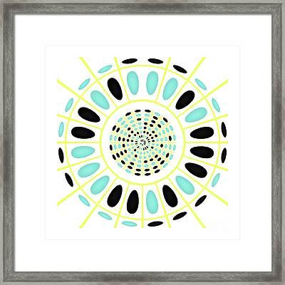 Wheel On White Framed Print