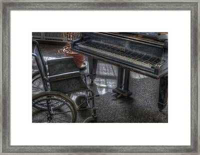 Wheel Piano Framed Print by Nathan Wright