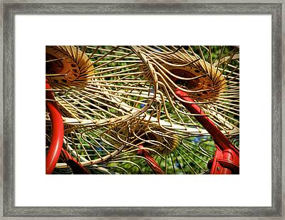 Wheel Rake Abstract Framed Print by Cricket Hackmann