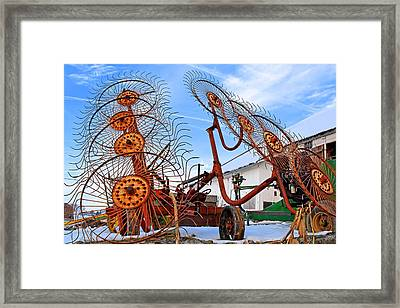 Wheel Rake Upside Down 2 Framed Print