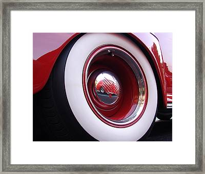Wheel Reflection Framed Print by Carol Milisen