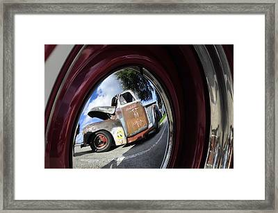 Wheel Reflections Framed Print by David Lee Thompson