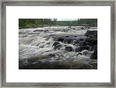 Wheelbarrow Falls Framed Print by Larry Ricker