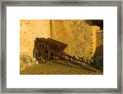 Wheelbarrow Framed Print by Sebastian Musial