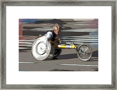 Wheelchair Racer Framed Print by Clarence Holmes