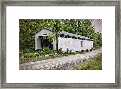 Wheeling Covered Bridge Framed Print