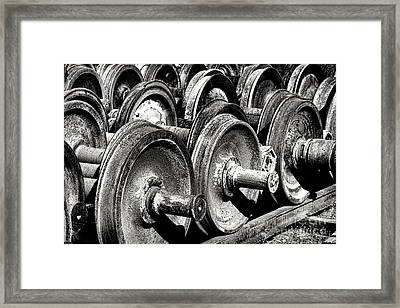 Wheels And Wheels And Wheels Framed Print by Olivier Le Queinec