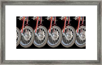 Wheels Framed Print by Jim  Hatch