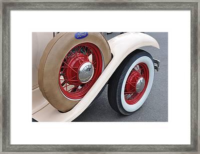 Wheels Framed Print by Lynn Bawden