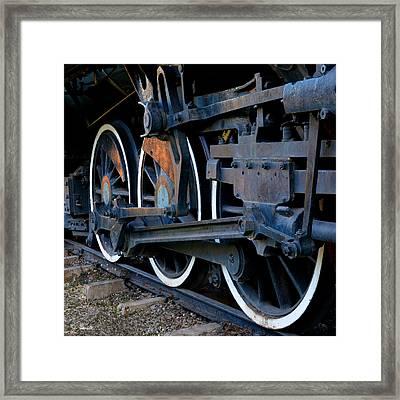 Wheels On Rails Framed Print