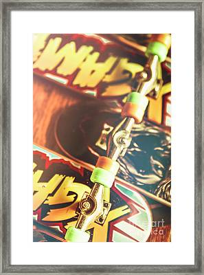 Wheels Trucks And Skate Decks Framed Print by Jorgo Photography - Wall Art Gallery