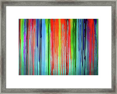 When A Rainbow Cry - Rainbow Tears Framed Print by Tiberiu Soos