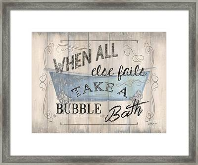 When All Else Fails Framed Print by Debbie DeWitt