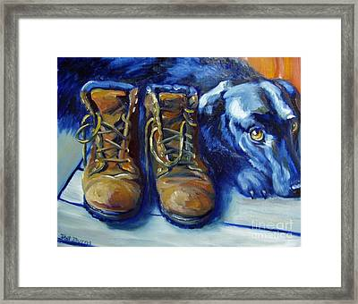 When Are We Going Framed Print by Pat Burns