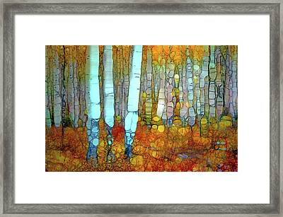 When Autumn Covers The Forest Floor Framed Print