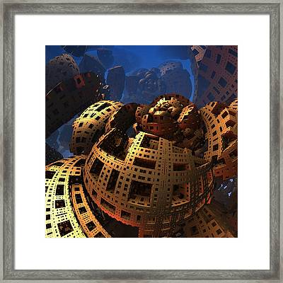 Framed Print featuring the digital art When Black Friday Comes by Lyle Hatch