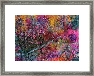 When Cherry Blossoms Fall Framed Print