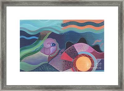 When Deep Met Flow Framed Print by Helena Tiainen