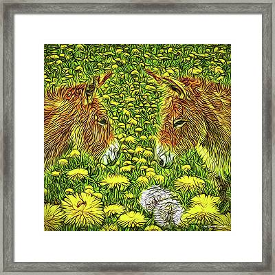 When Donkeys Speak Framed Print