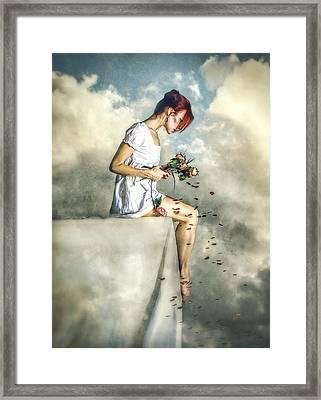 When Dreams Die Framed Print by Spokenin RED