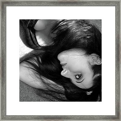 When Dreams Slip Away - Self Portrait Framed Print by Jaeda DeWalt