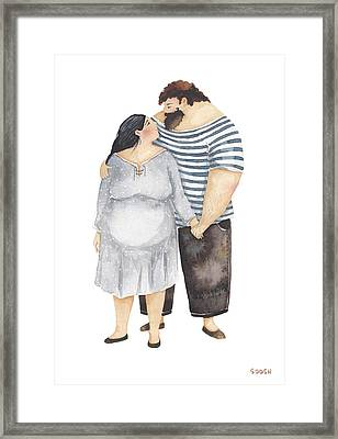 When Eyes Meet Eyes Framed Print by Soosh