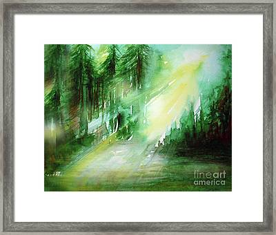 When Forest Sings Framed Print
