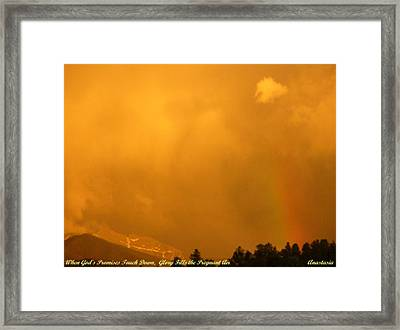 Framed Print featuring the photograph When God's Promises Touch Down... by Anastasia Savage Ealy