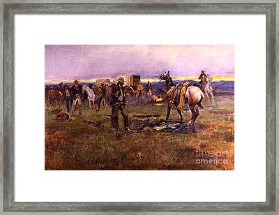 When Horses Talk Slim Chance For Truce Framed Print