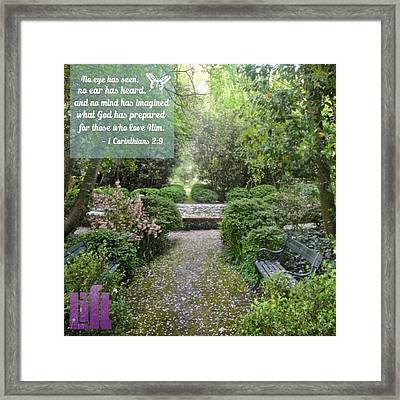 When I First Came To You, Dear Brothers Framed Print