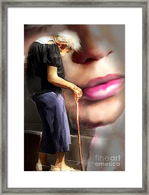 When I Wore A Young Girl's Clothes Framed Print by Bob Salo
