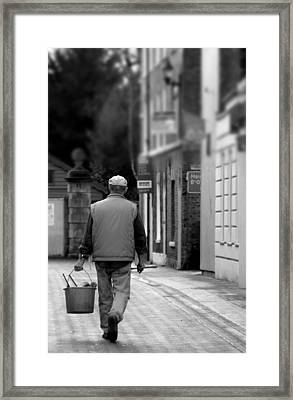 when I'm cleaning windows Framed Print by Jez C Self