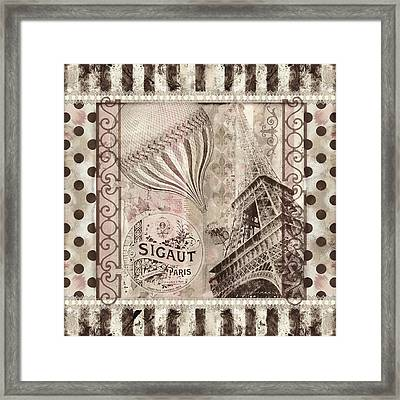 When In Paris Framed Print by Mindy Sommers