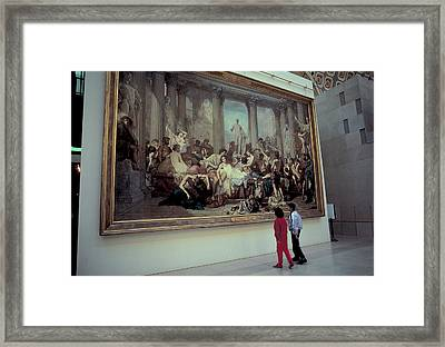 When In Rome Do As The Romans Do Framed Print by Carl Purcell