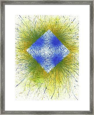 When It Is Dark Look For The Stars #163a Framed Print by Rainbow Artist Orlando L aka Kevin Orlando Lau