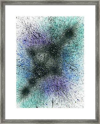 When It Is Dark Look For The Stars #169 Framed Print by Rainbow Artist Orlando L aka Kevin Orlando Lau