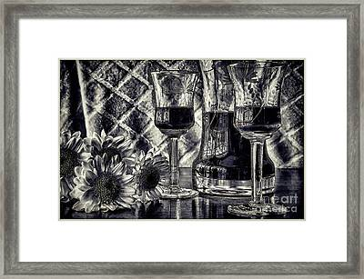 When It's Time For Wine Framed Print by Pamela Blizzard