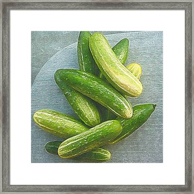 When Life Brings You Cucumbers Framed Print by Michele Meehl