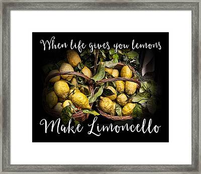 When Life Gives You Lemons, Make Limoncello Framed Print by Antique Images