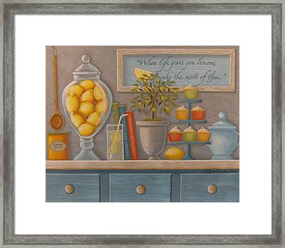 When Life Gives You Lemons Framed Print by Mary Charles