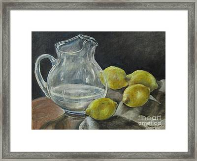 When Life Hands You Lemons Framed Print by Stephanie  Skeem