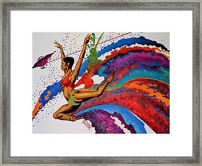When Misty Moves Framed Print