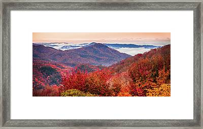 When Mountains Sing Framed Print by Karen Wiles