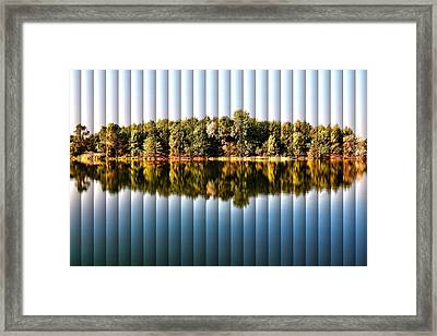 When Nature Reflects - The Slat Collection Framed Print