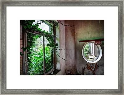When Nature Takes Over - Urban Exploration Framed Print