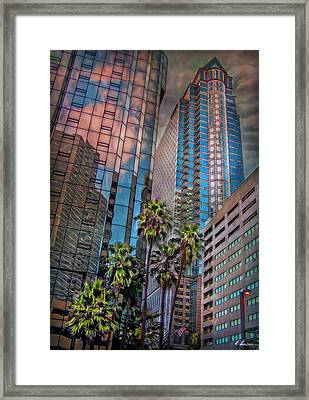 When Palmtrees Become Nondescript Framed Print by Hanny Heim