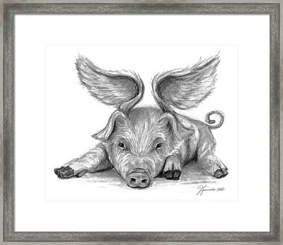 When Pigs Fly Framed Print by J Ferwerda