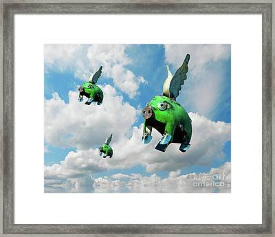 When Pigs Fly Framed Print by Juli Scalzi