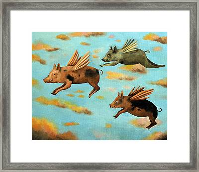 When Pigs Fly Framed Print by Leah Saulnier The Painting Maniac